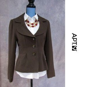 Apt. 9 Brown Fully Lined 3 Button Blazer 12